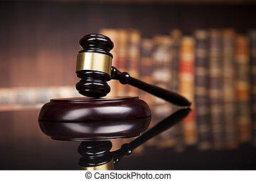 justice, salle audience, thème, droit & loi, maillet