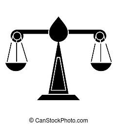 justice scale law symbol pictogram