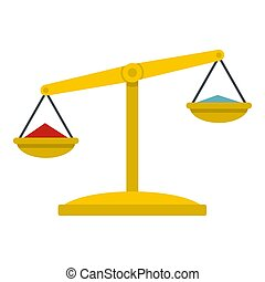 Justice scales icon isolated