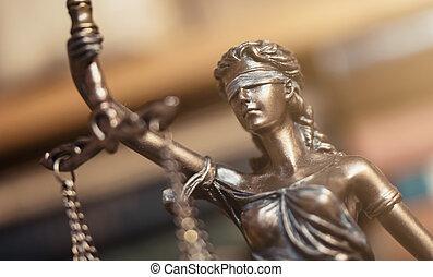 justice, -, statue, iustitia, dame, ou
