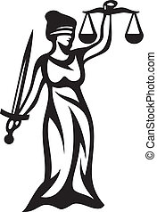 justice statue, lady justice (themis, femida - a goddess of justice)