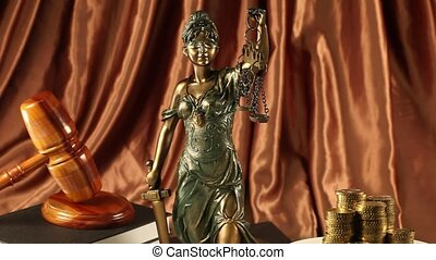 Justice statue, Law  - Law and justice concept in studio