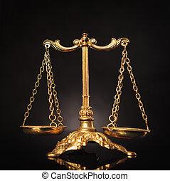 justice, symbole, droit & loi, balances