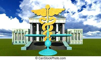justice, symbole, monde médical, balances