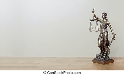 justice, table., image, space., panoramique, statue, copie, dame