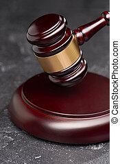 justice, tribunal, marteau, arrière-plan noir, symbole, juge