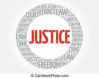 Justice word cloud