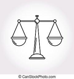 justicia, balance, símbolo, libra, icono