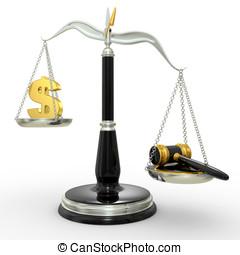 justicia, clásico, escalas