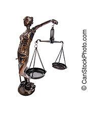justicia, con, escalas, para, ley, y, justicia