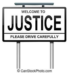 justicia, concept.
