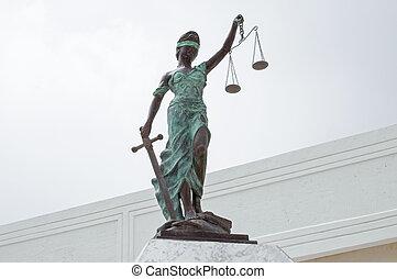 justicia de dama, en, palacio, de, justicia, en, chetumal