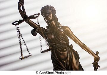 justicia de dama, ley, concepto, imagen