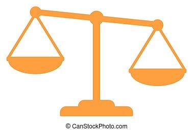justicia, oro, escalas