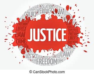 Justicia, palabra, nube