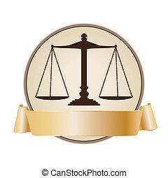 justicia, símbolo, escala, cinta