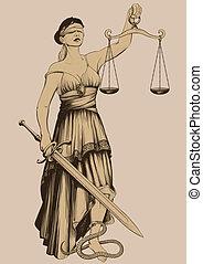 justicia, símbolo, femida