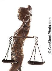 justitia., 符號, ......的, 正義