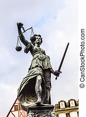 Justitia - Lady Justice - sculpture on the Roemerberg square...