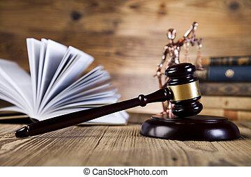 justitie, concept, code, wettelijk, wet