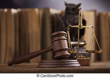 justitie, concept, gavel, slaghamer