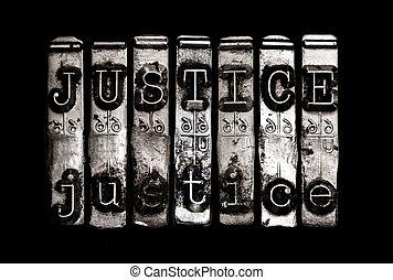 justitie, concept