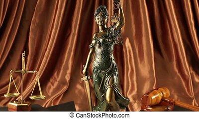 justitie, dame, standbeeld