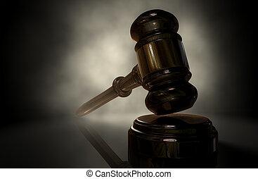 justitie, gavel