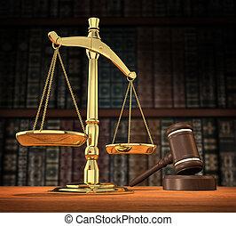 justitie, gediende