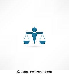 justitie, pictogram