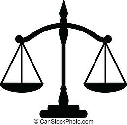 justitie, schalen