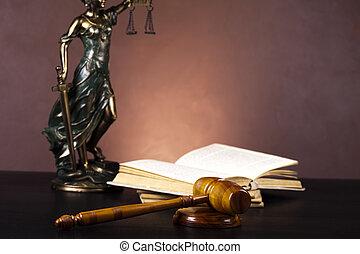 justitie, wet, concept