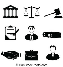 justitie, wet, wettelijk, iconen