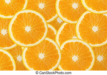 juteux, orange, fruit, fond