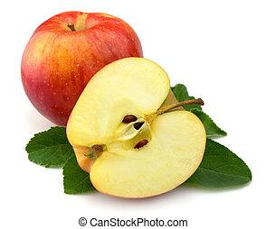juteux, pommes rouges