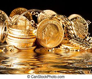 juveler, mynter, guld