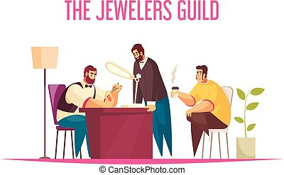 juvelerare, begrepp, illustration