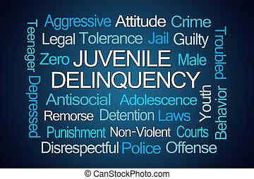 Juvenile Delinquency Word Cloud