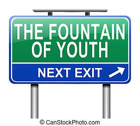 juventud, concept., fuente
