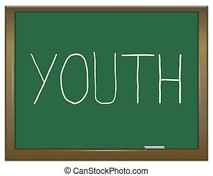 juventud, concept.