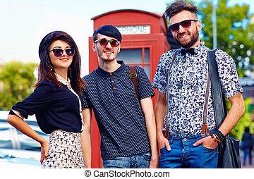 juventud, relación, calle, amigos, cultura