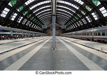 kánya, állomás, központi, vasút