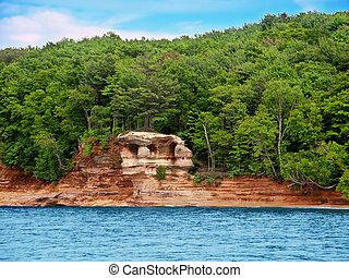 kápolna, kő, tó nagyobb