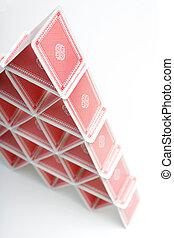 kártya, épület