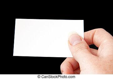 kártya, alatt, kéz, -, 4