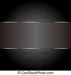 kártya, arany, képben látható, a, black., ügy, meghívás,...