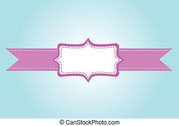 kártya, köszönés, szalag, rózsaszínű