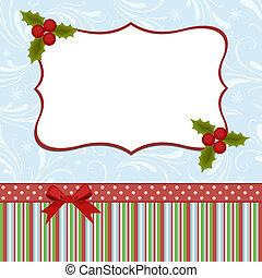 kártya, karácsony, köszöntések, sablon, tiszta