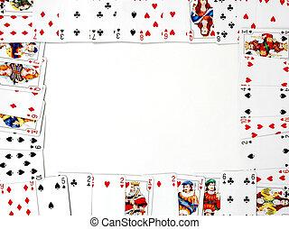 kártya, keret
