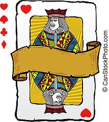 kártya, mód, játék, ábra, bubi